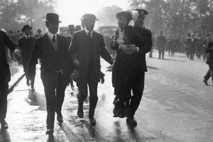 Emmeline Pankhurst being arrested