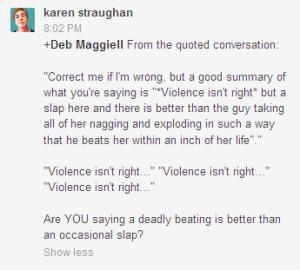 karen doubles down on slapping women