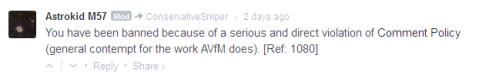 AVFM banning for disagreeing with AVFM