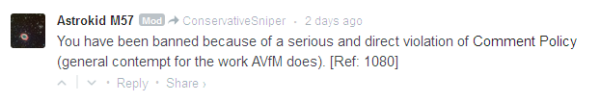 AVFM banning for disagreeing with AVFM