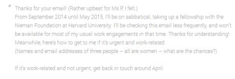 buchanan on email addys