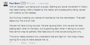 One of three long raging comments to another MRA who disagreed with Elam