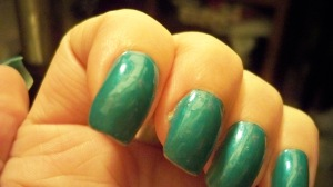 These ARE my nails in 'Jade' which cost me 3 bucks.