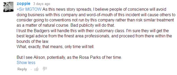 Alison is Rosa Parks