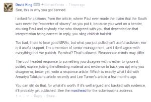 David King bans Fonda
