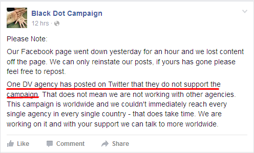 fb dv agency refused support